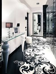 Decorative Floor Painting Ideas Decorating Luxury Modern Contemporary Black And White Hallway