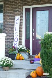 Fall Porch Decorating Ideas A Festive Fall Porch Two Purple Couches