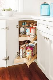 how to organize corner kitchen cabinets it s organized corner cabinet solutions