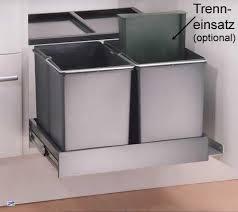 doppel mülleimer küche wesco automatic shorty 2x15 liter 2 fach abfalleimer küche