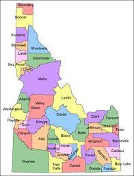 map of idaho idaho map