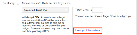 adwords bid create a portfolio bid strategy previous adwords help