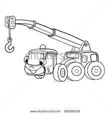 cartoon merry cranecar coloring book stock vector 180988319