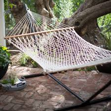 algoma 11 ft cotton hammock with metal stand deluxe set