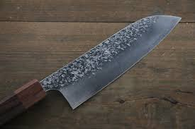 kitchen knives japanese kurosaki shizuku r2 sg2 hammerd santoku japanese chef knife 180mm