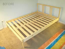Upholstered Bed Frame Full Ikea Hack How To Upholster A Fjellse Bed Frame Emmerson And
