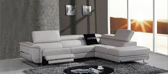 grey fabric modern living room sectional sofa w wooden legs modern grey sofa divani casa e9054 modern grey leather sectional