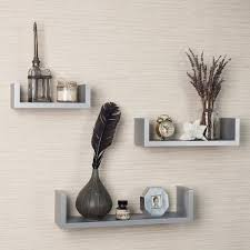B Home Interiors by Set Of 3 White Floating U Shelves For Your Home Interior Review