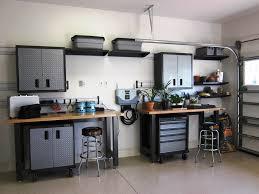 Gladiator Work Benches Furniture Modern Space Saving Garage Cabinets Design Car Guy Large