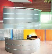 Illuminated Reception Desk Curved Illuminated Reception Desks Emel 3 Office Reality