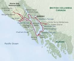 Alaska Ferry Map by Glacier Bay Small Ship Cruise Uncruise Adventures