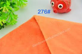 drap canap 276 orange microfibre minky doux velboa tissu polaire tricot