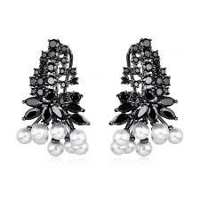gunmetal chandelier earrings gunmetal archives fallon jewelry