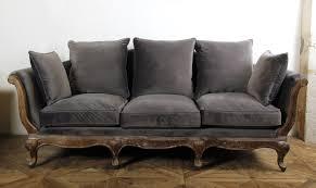 boutique de canapé canapé pompadour velours gris canapés banquettes la boutique
