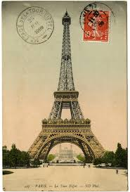 Eiffel Tower Ornaments Vintage Image Eiffel Tower Photo And Postmark The Graphics Fairy