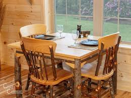 Log Dining Room Table by Log Cabin Interior Ideas U0026 Home Floor Plans Designed In Pa