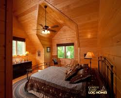 golden eagle log homes log home cabin pictures photos lodge loft bedroom 2 view 1
