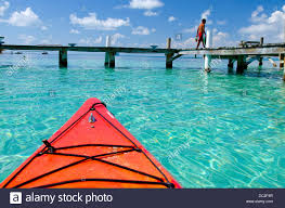 belize caribbean sea southwater cay kayaking in clear
