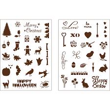 martha stewart crafts holiday icons ii adhesive stencils 32304