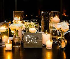 candle centerpiece wedding table decoration ideas candles wedding corners