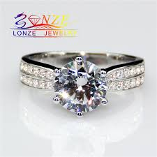 aliexpress buy 2ct brilliant simulate diamond men fresh pictures of synthetic diamond ring ring ideas