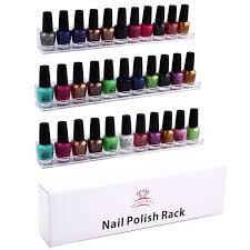 2017 makartt 3 tier nail polish wall display rack clear acrylic