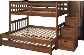 Just Cabinets Wyatt Twin Over Full Bunk Bed With Trundle  Reviews - Twin over full bunk bed trundle
