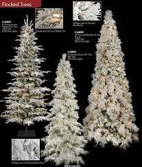 slim flocked artificial tree slim pre lit