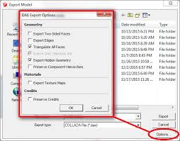 exported model does not include some components sketchup