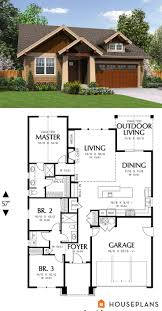 Narrow Lot House Plans Craftsman Best 20 Craftsman Cottage Ideas On Pinterest Craftsman Home