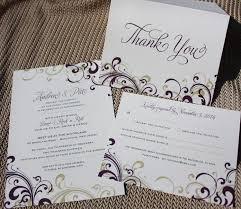 themed wedding invitations purple gold swirls rock n roll themed wedding