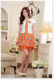trendy dress asian designer for wholesale online k9215 orange