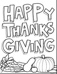 thankful thanksgiving coloring page turkey color pages