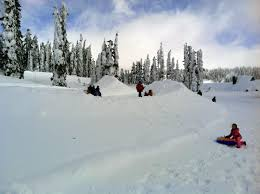 sledding tubing at snow play area mt rainier visit rainier