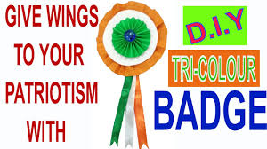 easy tri color badge for kids at home republic day craft