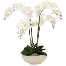 faux flower arrangements silks white orchid faux flower arrangement