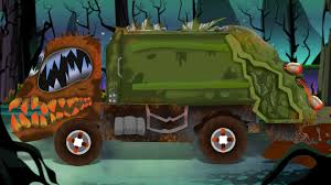 monster truck cartoon videos scary garbage truck formation and uses youtube