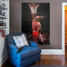 Michael Jordan Bedroom Set Chicago Bulls Fathead Wall Decals U0026 More Shop Nba Fathead