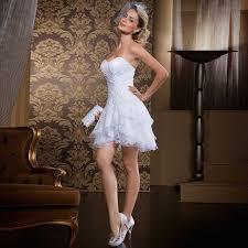 short wedding dresses 2017 strapless lace short wedding dress