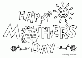 holiday mother u0027s day coloring page for kids coloring pages