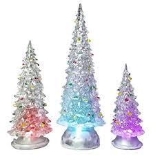 tree led set of 3 acylic trees with