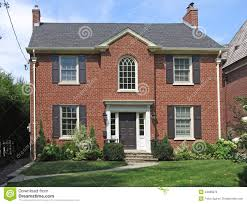 two story brick house stock photo image 44086070