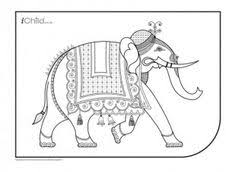 indian elephant design coloring pages indian elephant coloring