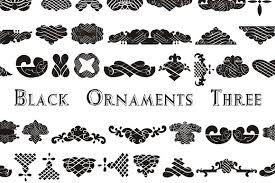 black ornaments white fabric with black ornaments