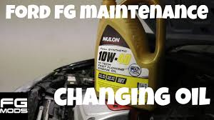 ford fg service changing oil youtube