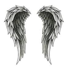 angel wings back tattoo design tattoowoo com