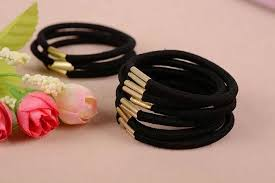 hair holders 10pcs black elastic ponytail holders hot fashion hair accessories