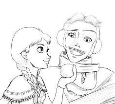 anna hans frozen sketch kozekito deviantart