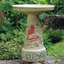 pedestal resin bird bath lily leaf copper effect walmart com