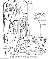 Nativity Coloring Pages Free Printable Nativity Coloring Pages